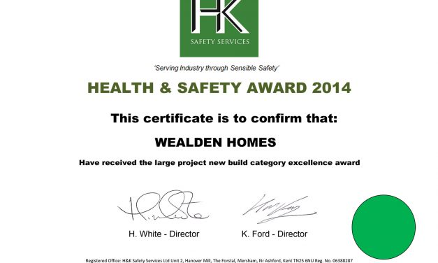 Health and Safety Awards received 2014