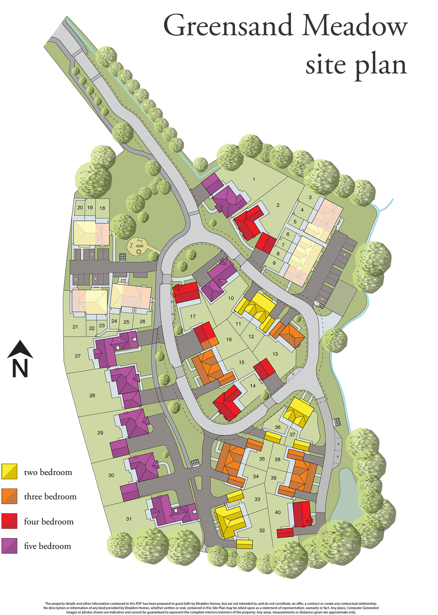 Sutton Valence, Greensand Meadow siteplan