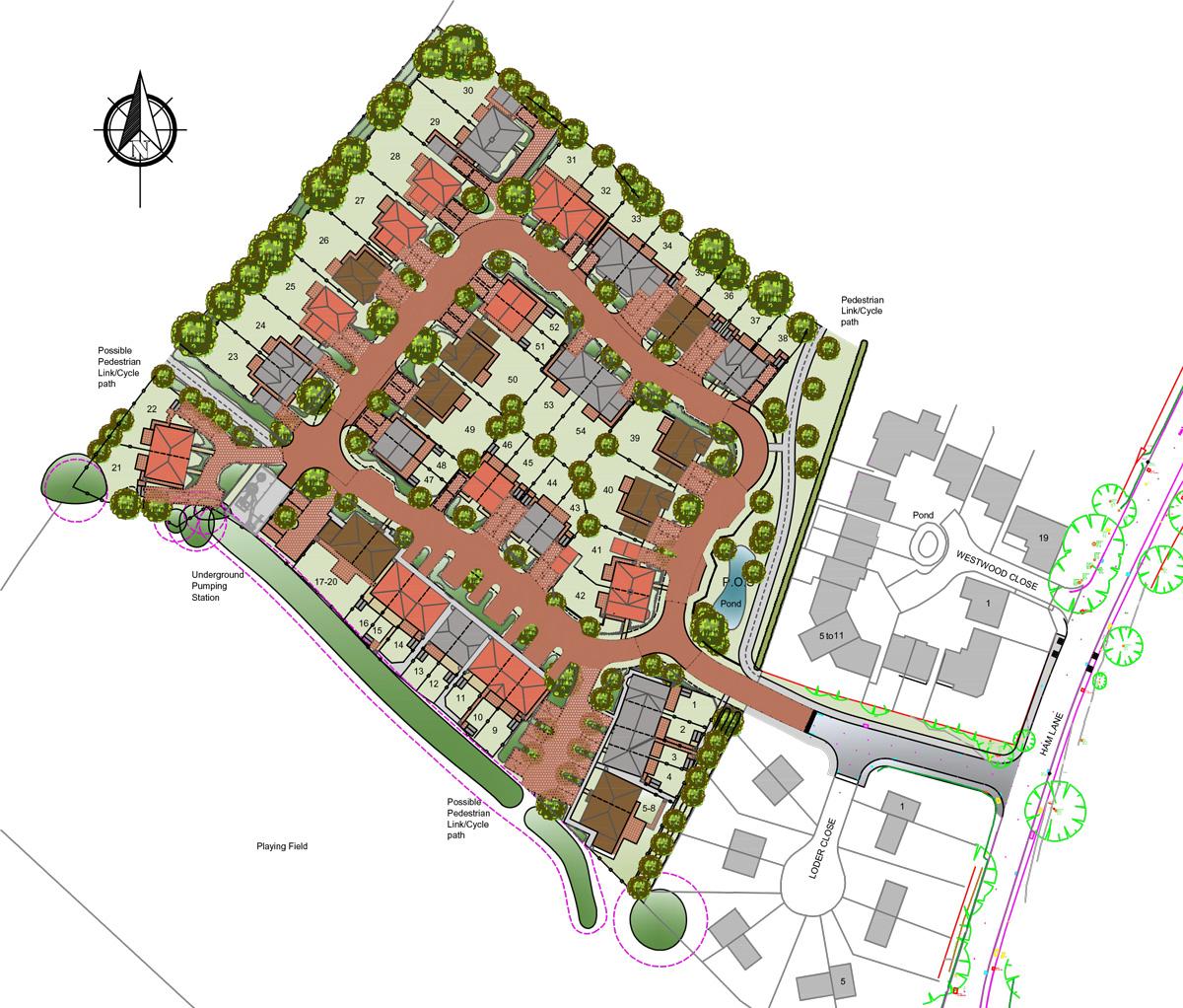 Siteplan - Lenham, Kent