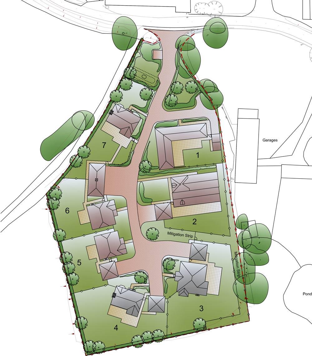Siteplan - Staplehurst, Kent
