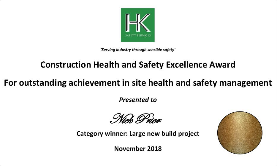 Construction Health & Safety Excellence Award
